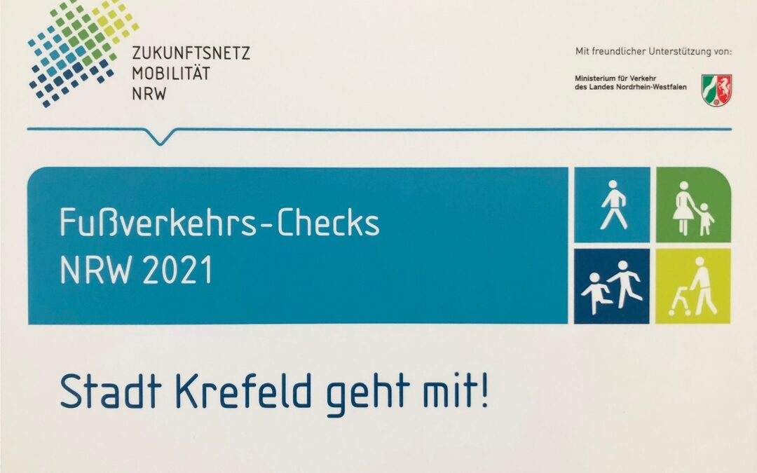 Fußverkehrs-Check in Uerdingen: Einladung zum Auftaktworkshop am 24.08.2021